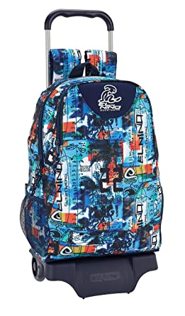 "El Niño ""Surf Club"" Oficial Mochila Escolar Con Carro 330x150x430mm"