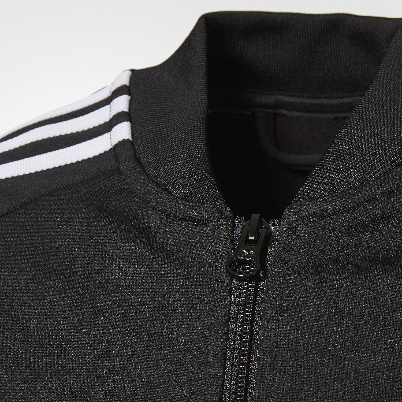 Adidas Originaler Super Spor Topp Junior Sort / Hvitt M5ak0fI