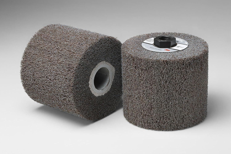 Medium Grit Scotch-Brite TM 4-1//2 Diameter x 4 Width 5//8-11 Thread Match and Finish High Strength Flap Brush Pack of 1 4-1//2 Diameter x 4 Width 5//8-11 Thread 3M HS-MF Aluminum Oxide