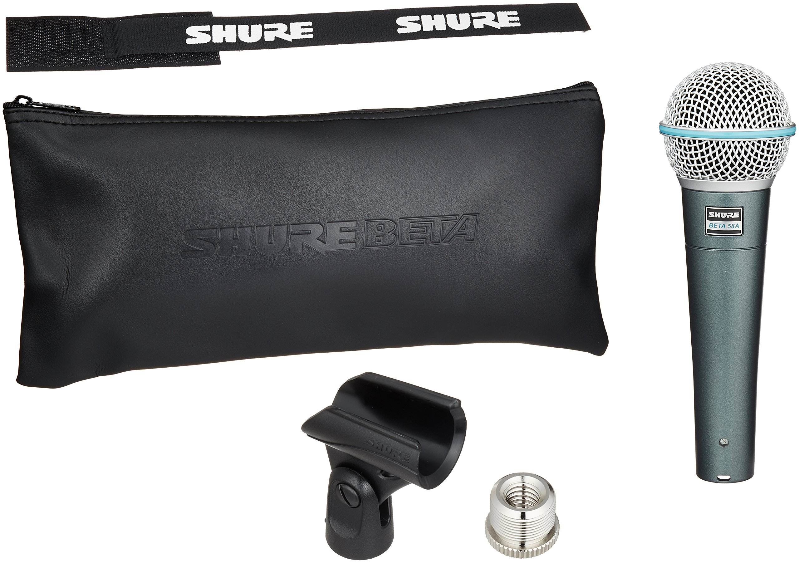 Shure BETA 58A Supercardioid Dynamic Microphone with High Output Neodymium Element for Vocal/Instrument Applications