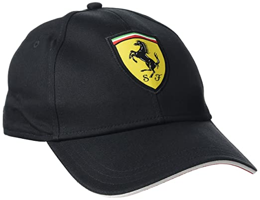 Ferrari Black Cap with Classic Logo  Amazon.co.uk  Clothing db33b0eaca0