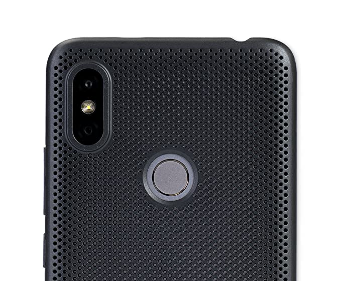 quality design d9aff 701cd Mi Perforated Case Cover for Redmi Y2 (Black)