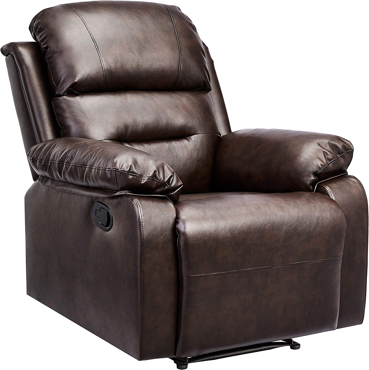 Ashley Furniture Signature Design – Tambo Rocker Recliner – Pull Tab Manual Reclining – Contemporary – Pewter