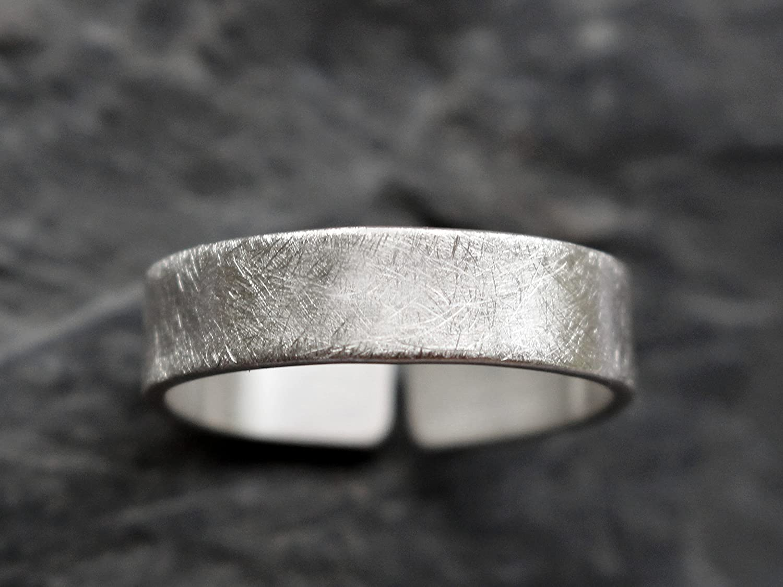 925 Sterling Silber Ring 5mm gebürstet