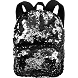 Magic Sequin Fractal Fashion School Supplies Nylon Backpack Bookbag Tote