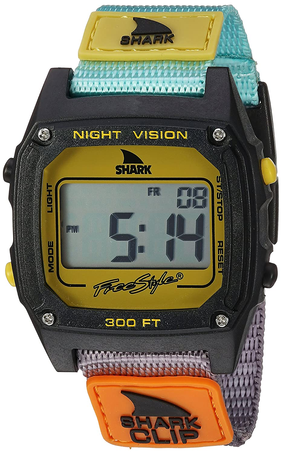 Freestyle Unisex 10026749 Shark Clip Digital Display Japanese Quartz Multicolor Watch