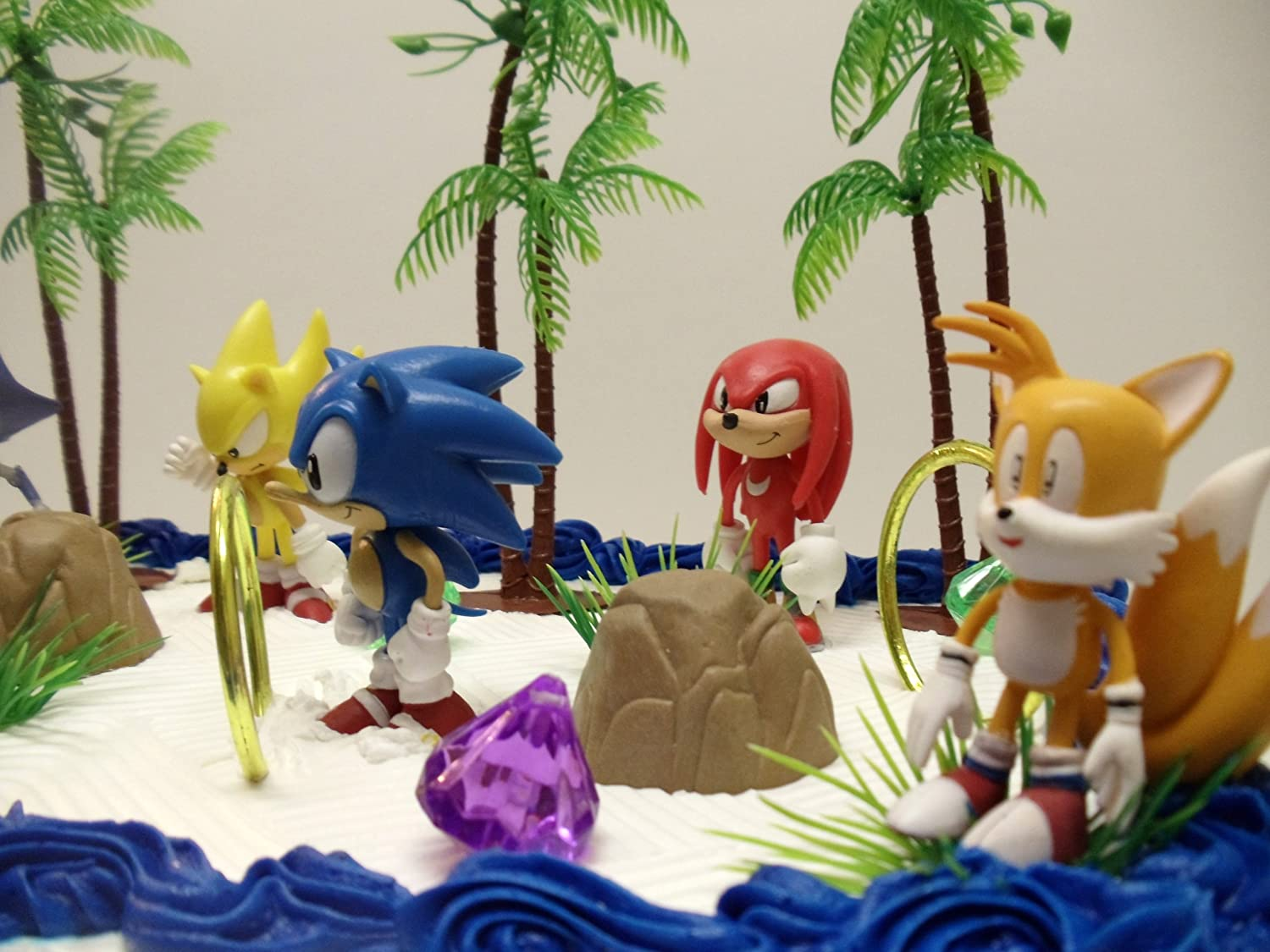 12 classic sonic the hedgehog cake topper set featuring 4