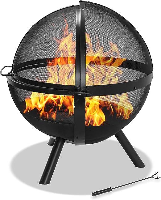 Centurion Soporta OMARI 360 ° esférico retro malla jaula llama jardín y patio calentador bola de fuego – acabado negro: Amazon.es: Jardín