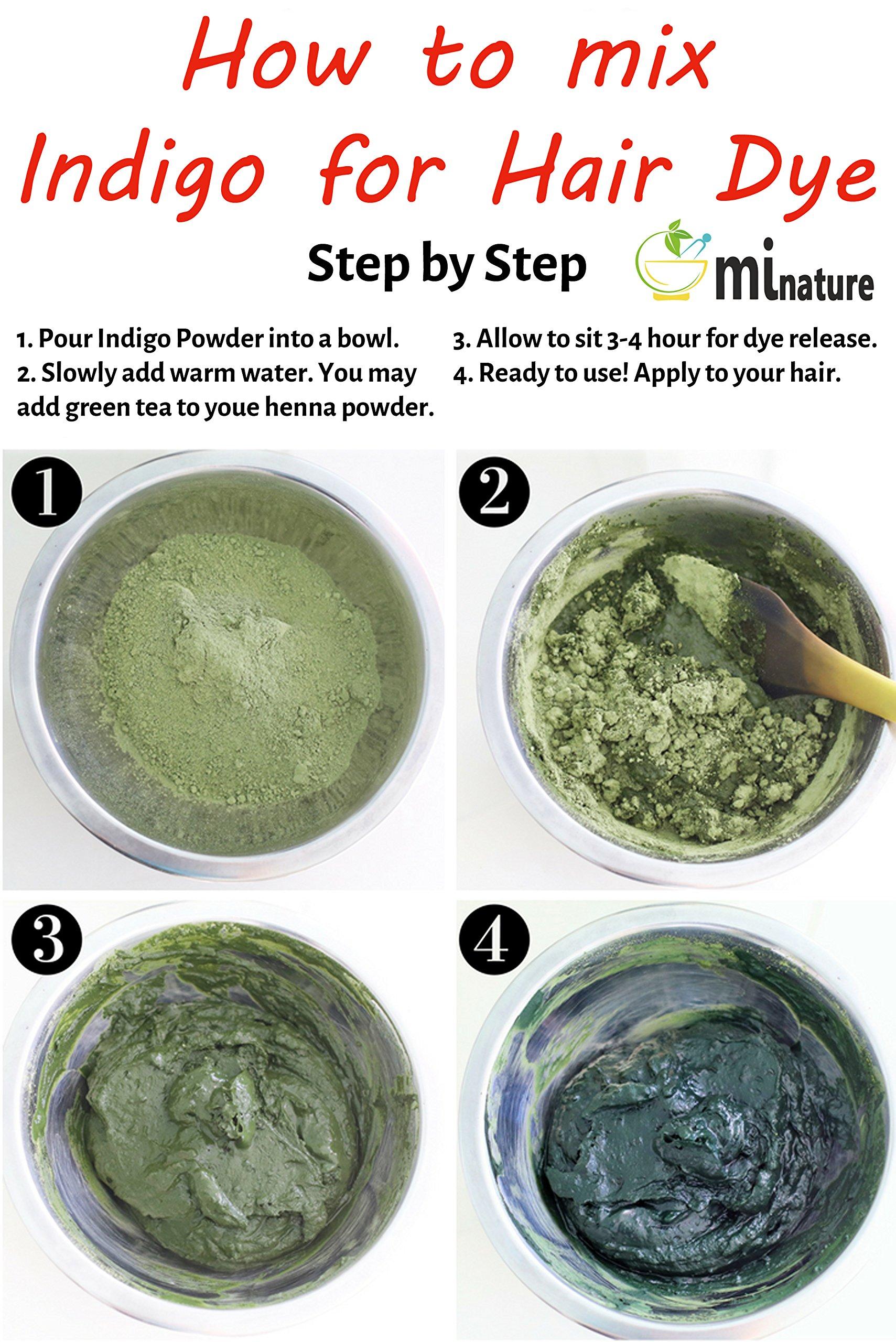 mi nature Indigo Powder -INDIGOFERA TINCTORIA,(100% NATURAL, ORGANICALLY GROWN) 1 LB (454 grams/16 ounces) RESEALABLE BAG by mi nature (Image #4)