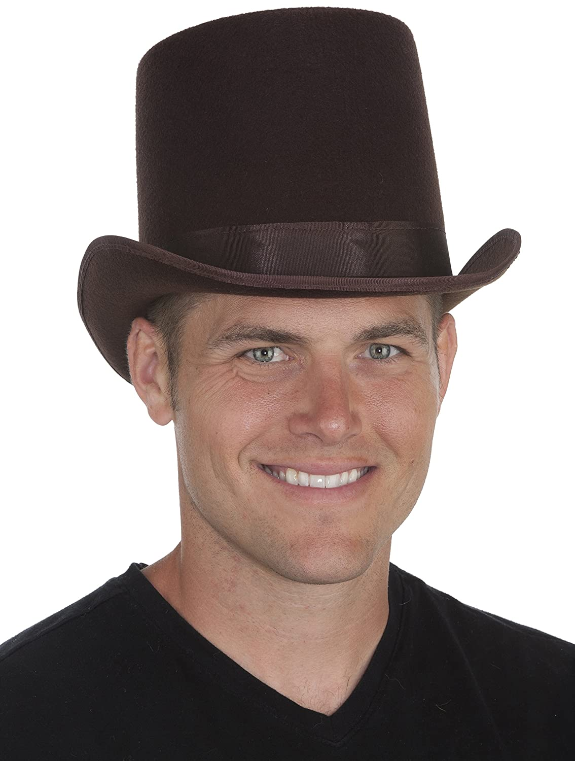Amazon.com  Jacobson Hat Company Men s Adult Permalux Coachman Top Hat (7  Inch Tall)  Clothing 265db313c2fb