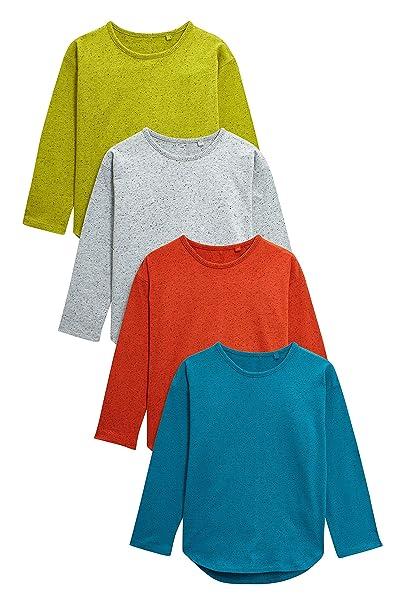 next Niños Pack De Cuatro Camisetas De Manga Larga Neppy (3 Meses - 6 Años)  Naranja Lima   Azul Turquesa 5-6 años  Amazon.es  Ropa y accesorios 3422e9bce468