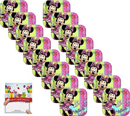 Amazon.com: Minnie Party Supplies - Juego de platos de ...