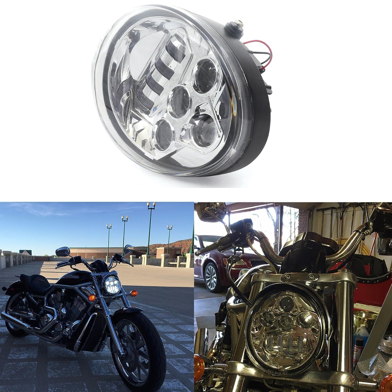 Chrome Led Protector Headlight Fit For Harley Davidson V Rod Wire Harness Plugs Vrod Vrsca Vrscf Automotive