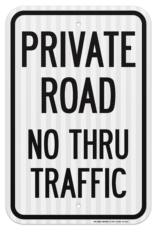 Carretera Privado, No Thru Tráfico cartel - 12