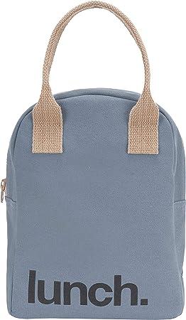 Bolsa de almuerzo con cremallera, algodón orgánico: Amazon.es: Hogar