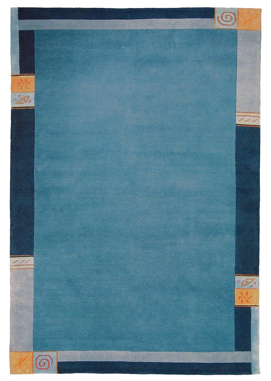 TEPPICHWELT SONA-LUX Nepal Teppich handgeknüpft blau