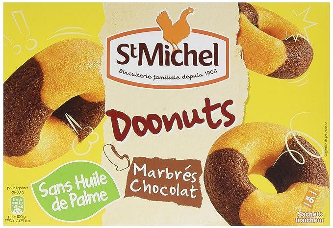 Doonuts Marbrés Chocolat 180g - 6 sachets fraicheur - ST MICHEL - sans  huile de palme cfcc561e6a5