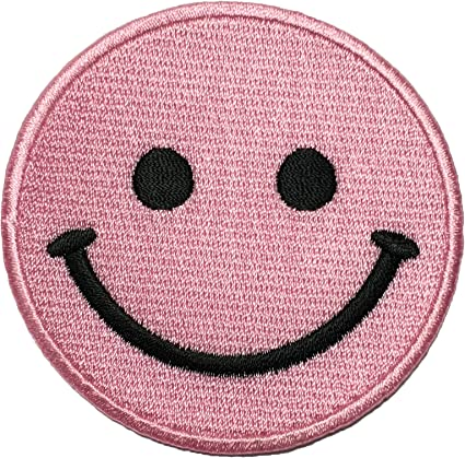 Simley Happy Face Faux Leather Bag  sew Patch clothes dressmaking applique P125