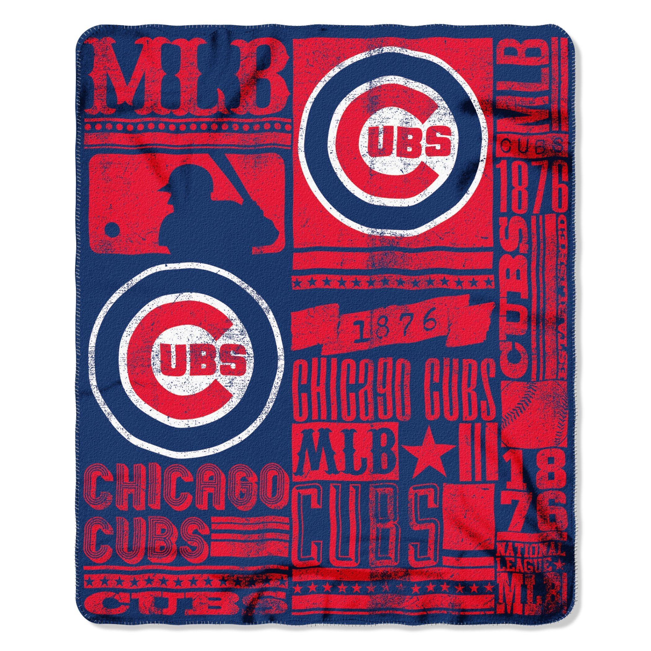 The Northwest Company (NW-203778) MLB Chicago Cubs Strength Printed Fleece Throw, 50-inch by 60-inch by The Northwest Company