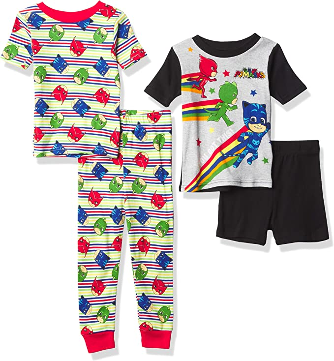 Raglan Long Sleeve Tee and Jog Pants for Kids and Toddlers PJ Masks Jogger Set for Boys