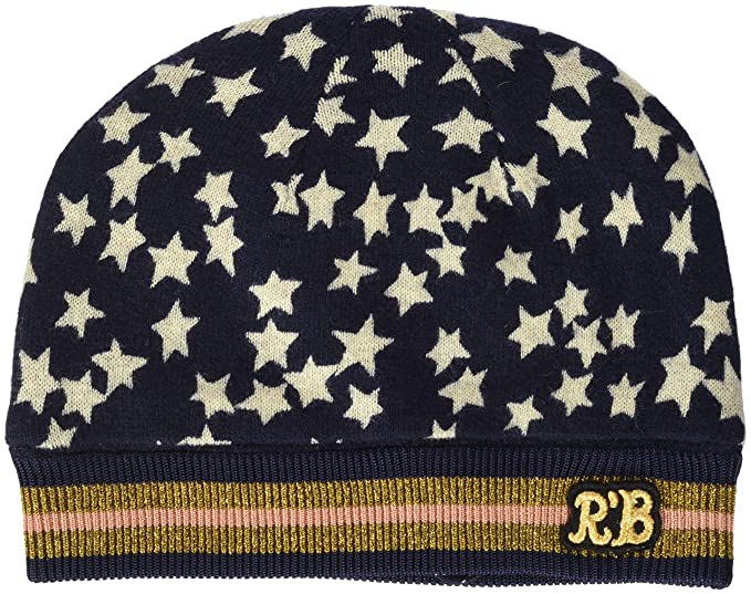 8e29613223a76 Scotch   Soda Girl s Knitted Beanie with Allover Print Hat  Amazon.co.uk   Clothing