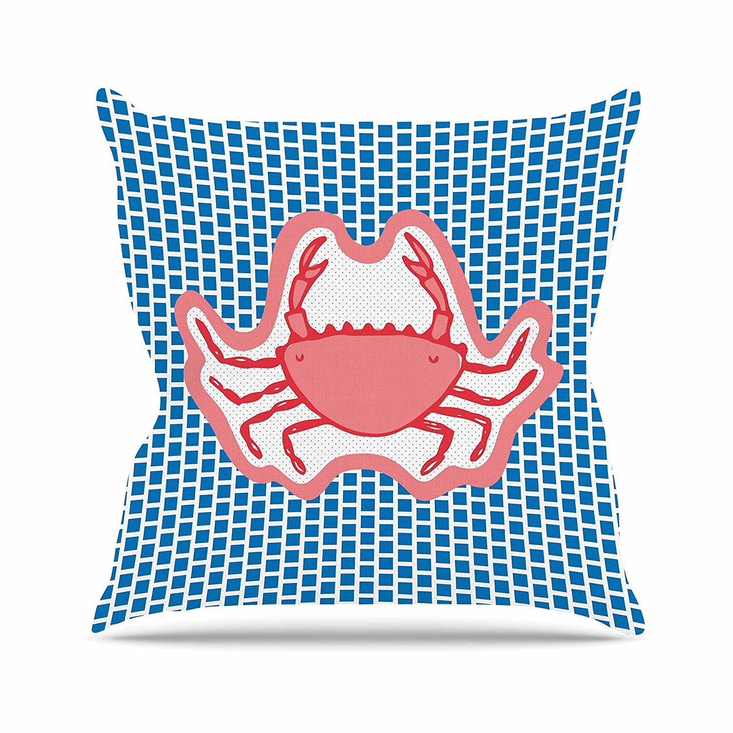 26 by 26 Kess InHouse MaJoBV Cangrejo Red Crab Throw Pillow