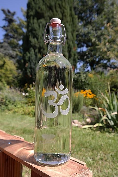 freiglas 1,0l Botella Om & amor ~ fabricado en negro bosque ~: Amazon.es: Hogar