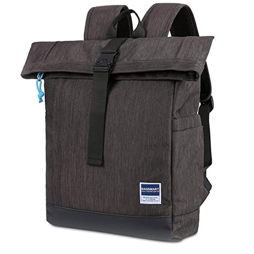 Roll-Top Laptop  Backpack Travel Fit up to 15.6 Inch