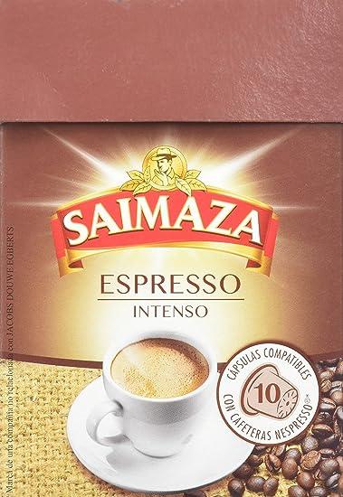 Saimaza Café Espresso Intenso. 80 Cápsulas de aluminio compatibles con cafeteras Nespresso®* -