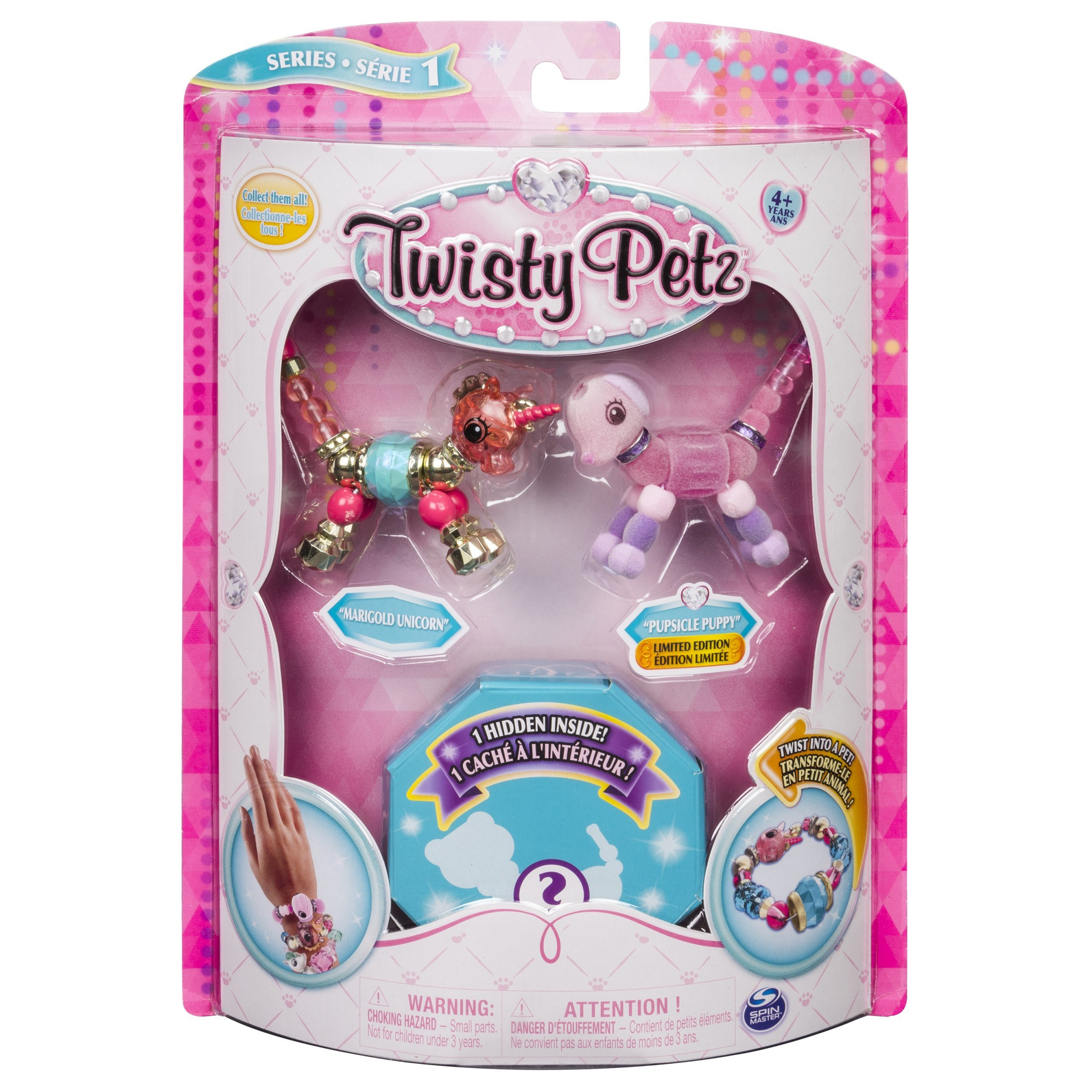 Twisty Petz - 3-Pack - Marigold Unicorn, Pupsicle Puppy and Surprise Collectible Bracelet Set for Kids