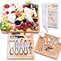 Luxury Dining 16-piece Charcuterie Cheese Board and Knife Set - Organic Bamboo Wood Cutting and Serving Tray, Perfect…