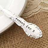 Eating for 2: Pregnancy announcement- hand stamped fork, vintage by Lorelei Vella, flirtation