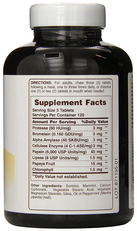 Amazon.com: American, Suplemento Multi-Enzyme-Plus, Super ...