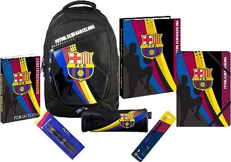 Mochila + Agenda + carpeta + camisa + Estuche + bolígrafo – Colección oficial FC Barcelona: Amazon.es: Oficina y papelería