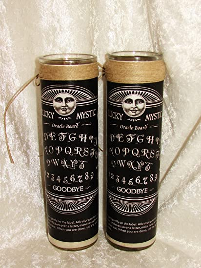 Lucky Mystic Oracle Board Conjure Candle (Black Label)