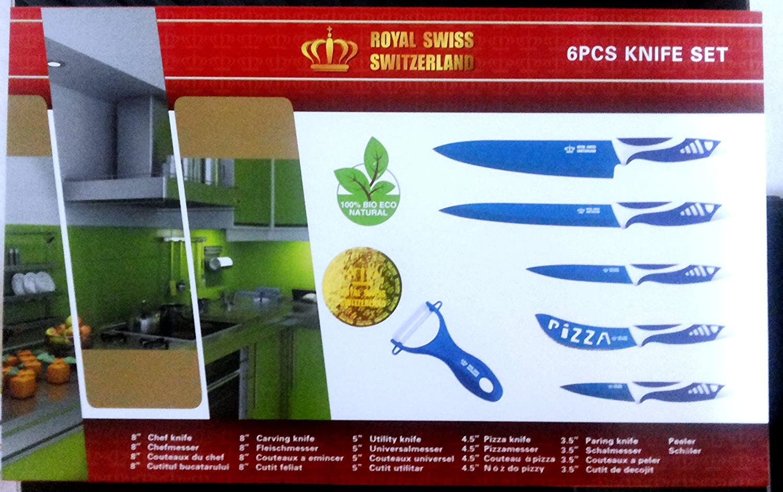 Royal Swiss 6 pieza Cuchillo Juego de cuchillo (5 pcs ...