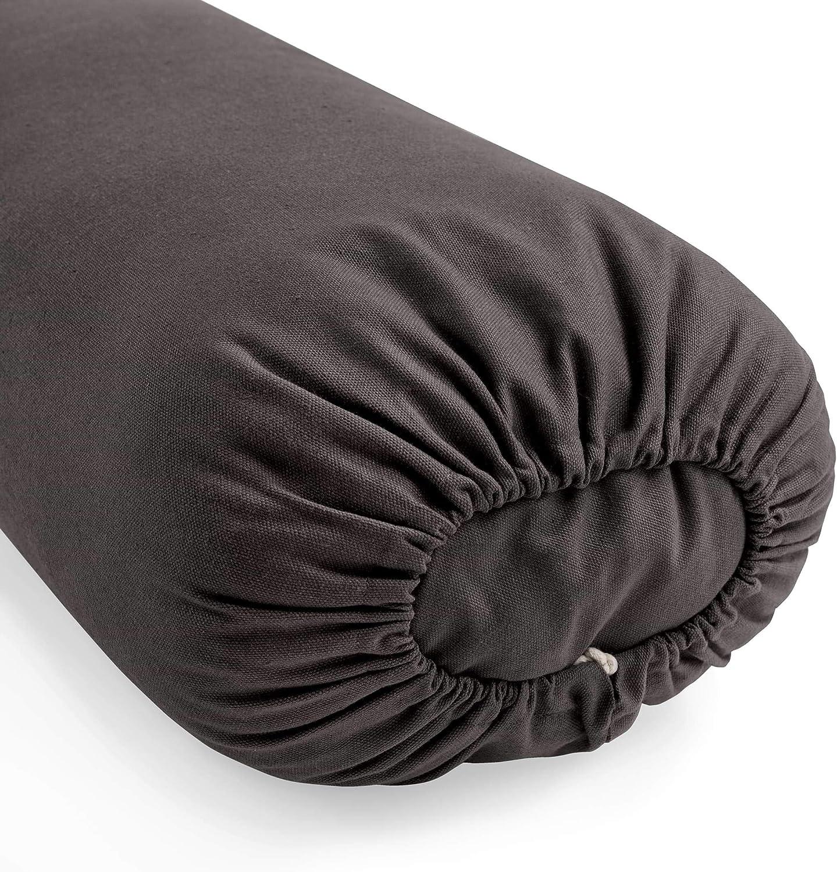 Lotuscrafts Yoga Bolster for Yin Yoga Rectangular - Kapok Filling - Washable Cover Organic Cotton - Yoga Bolster Cushion for Restorative Yoga - ...