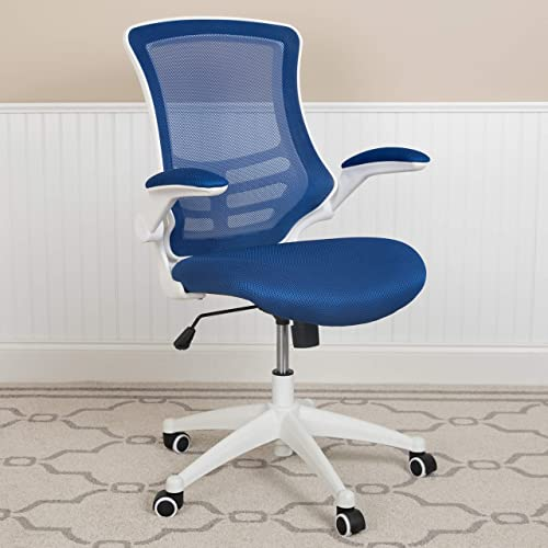 EMMA OLIVER Mid-Back Blue Mesh Ergonomic Task Office Chair