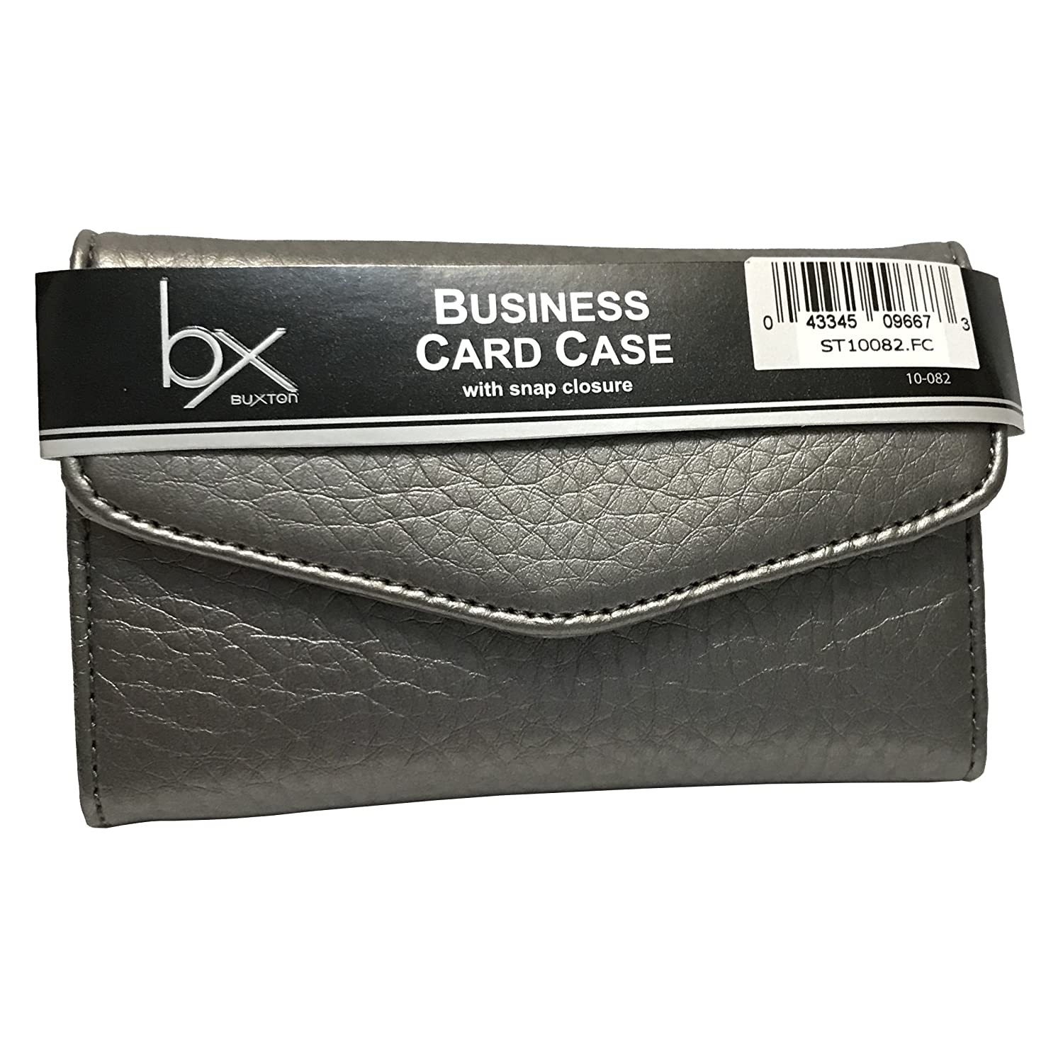 Buxton Business Card Case - Silver