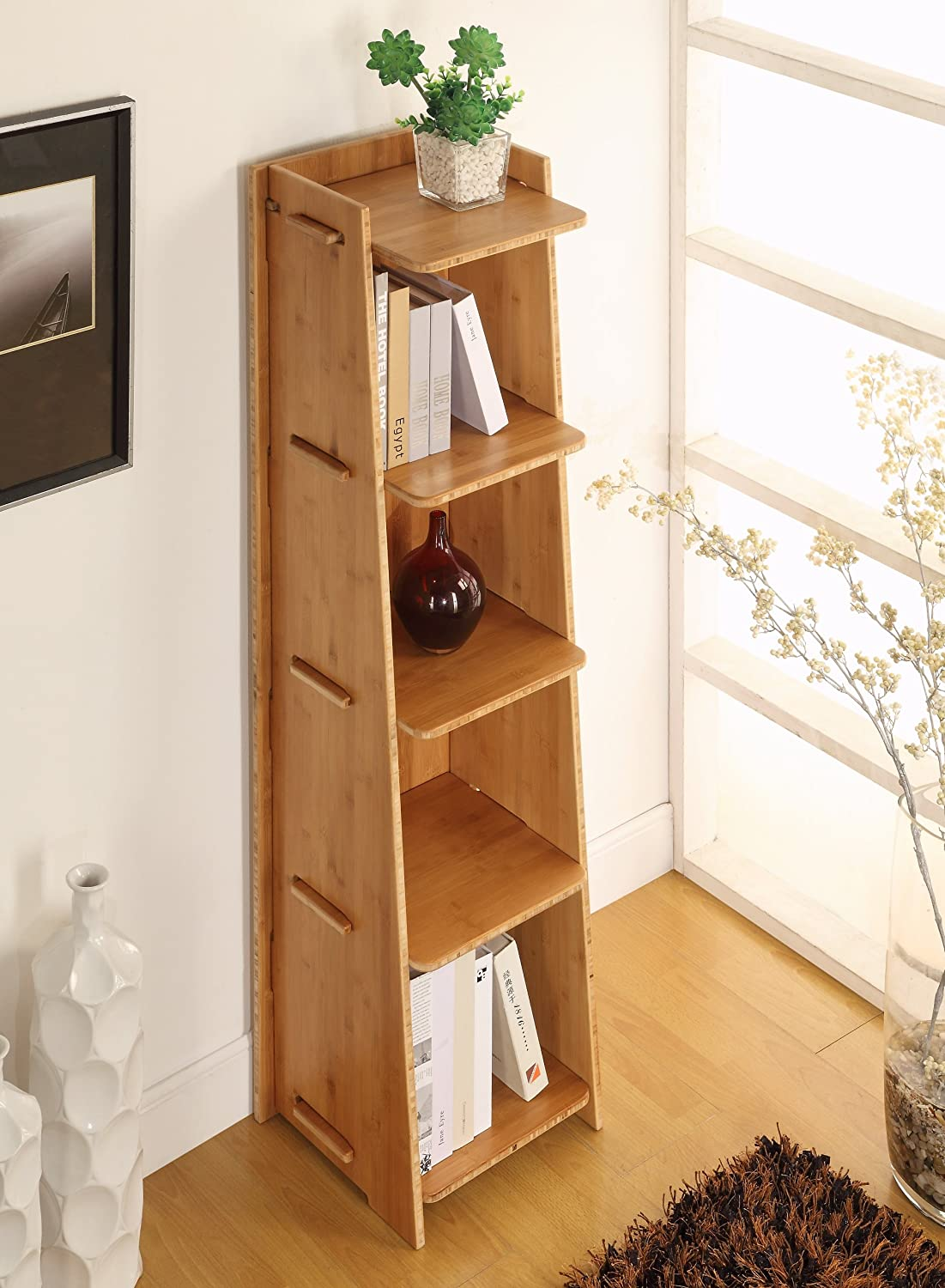 Amazon.com: Legare Craft Bookcase, 57 By 16 Inch, Amber Bamboo: Kitchen U0026  Dining