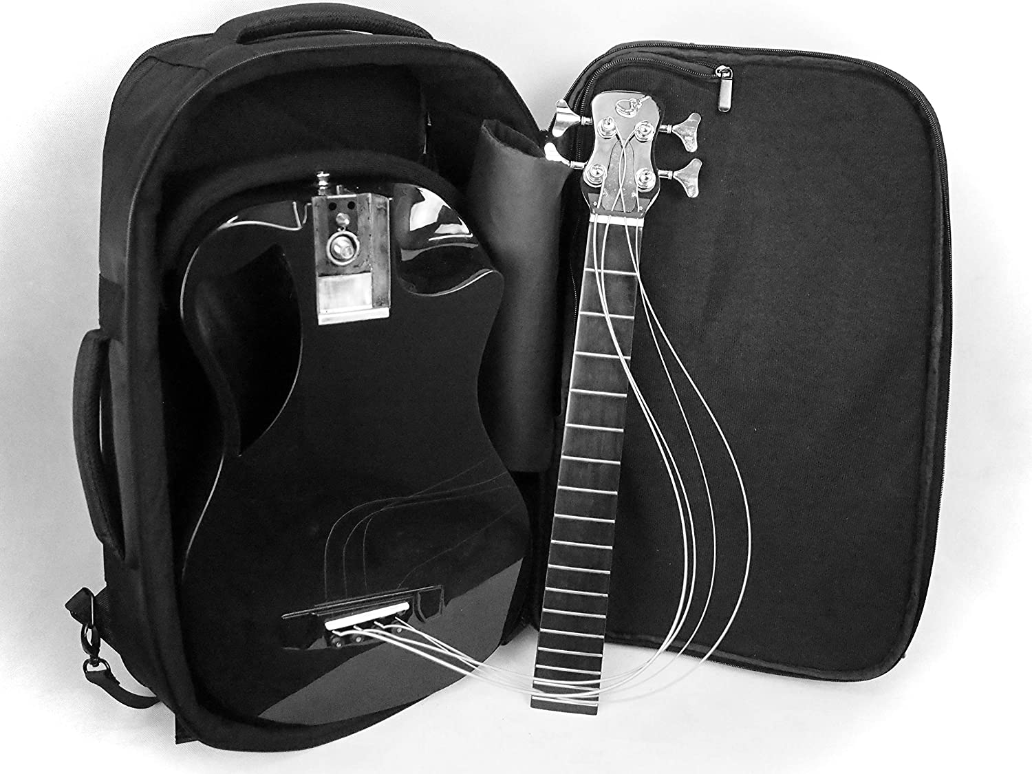 Journey Instruments Carbon Fiber Collapsible Acoustic Travel Bass with Pickup and Custom Travel Case - OB660
