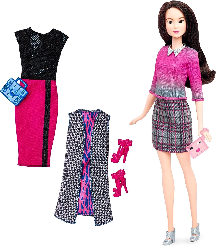 NEW  Fashionista Barbie doll DARK BROWN ankle BUCKLE boots W// PLATFORM HEELS