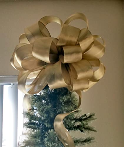 Amazoncom Large Gold Tree Topper Bow Free Shipping Christmas
