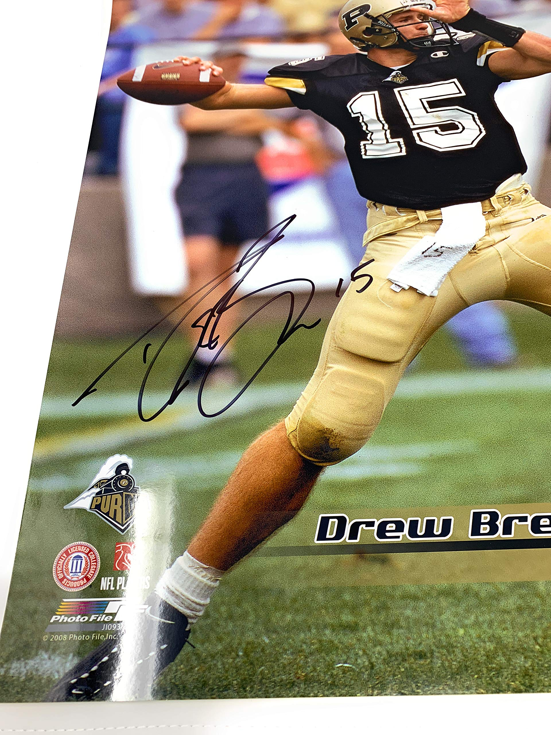 Drew Brees Purdue Boilermakers Signed Autograph 16x20 Photo Tristar Authentic Certified