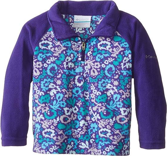 Columbia Girls Glacial Ii Printed Fleece Half Zip Jacket