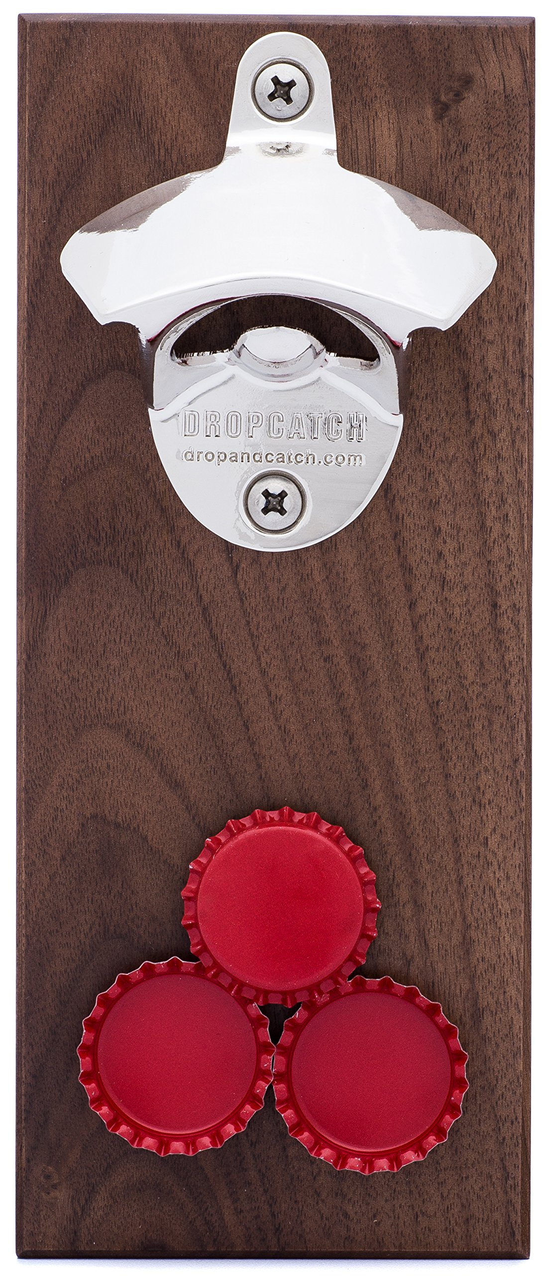 DropCatch Magnetic Bottle Opener & Cap Catcher, Porter, 70 Caps