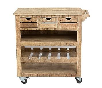 Sit Möbel 2587-01 Küchenwagen Frigo, 78 x 48 x 85 cm, Mango-Holz ...