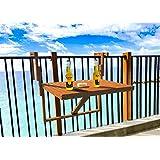 Amazon.com : Folding Deck, Railing, Balcony, Patio Table ...
