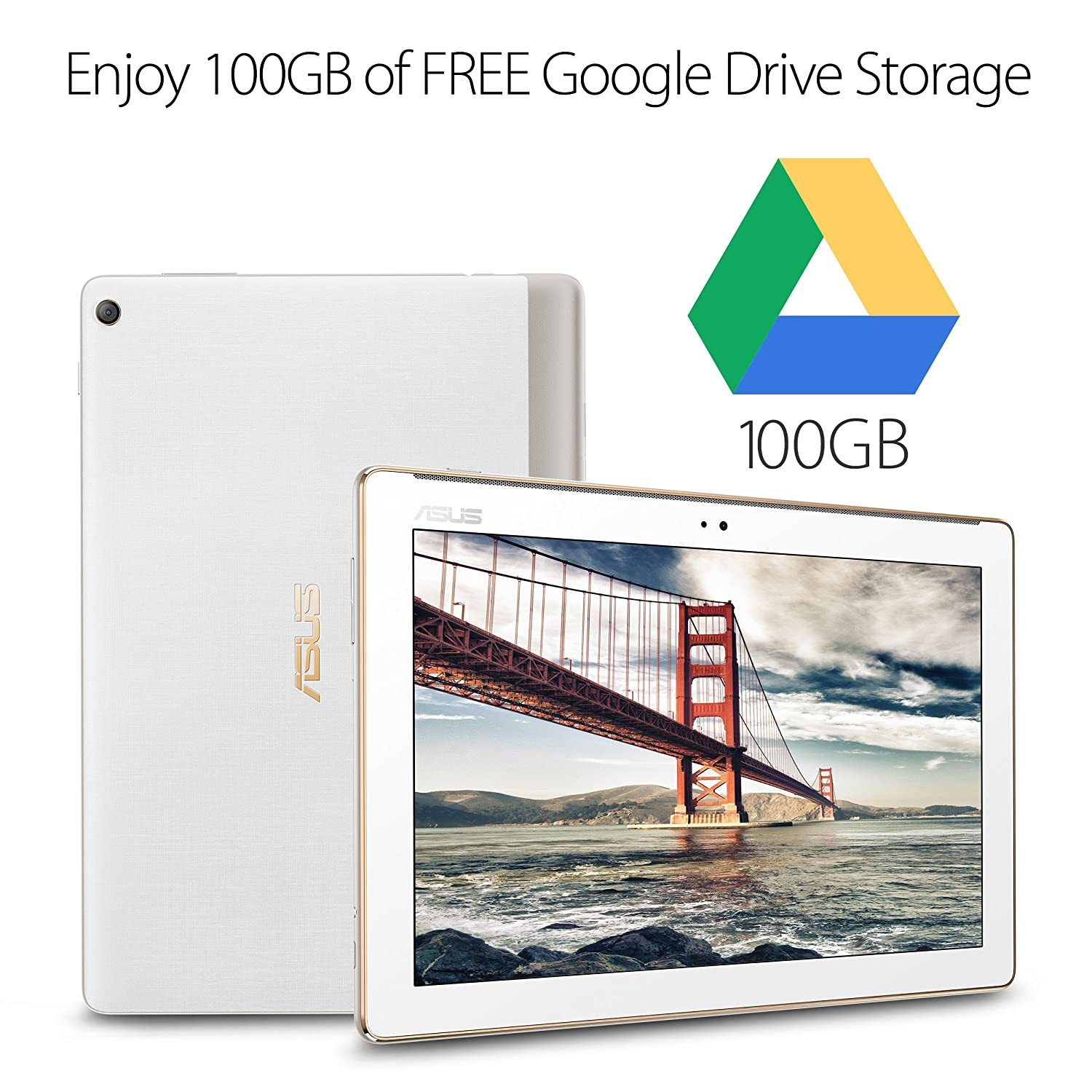 ASUS ZenPad 10 10 1-inch IPS WXGA (1280x800) FHD Tablet, 2GB RAM 16GB  storage, 4680 mAh battery, Android 7 0, Pearl White (Z301MF-A2-WH)