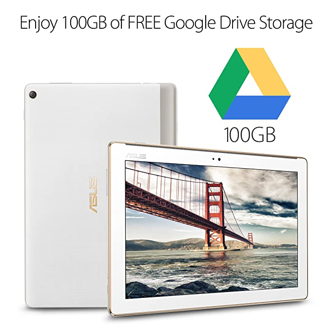 ASUS ZenPad 10 10 1-inch IPS WXGA (1280x800) HD Tablet, 2GB RAM 16GB  storage, 4680 mAh battery, Android 7 0, Pearl White (Z301M-A2-WH)